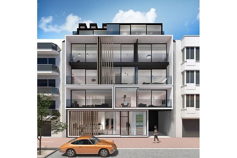 Nieuwbouwappartement in een moderne architectuur, centraal gelegen te Knokke