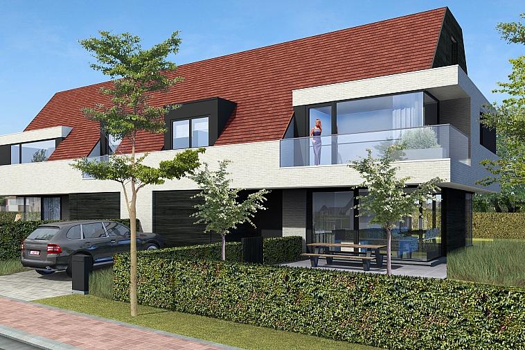 Kalvekeetdijk - Nieuwbouw koppelvilla's in hedendaagse stijl