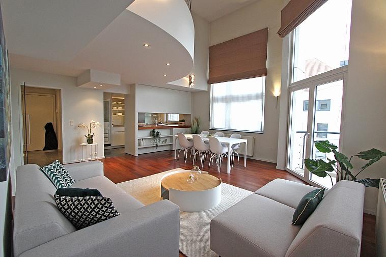 Prachtig mezzanine-appartement centrum Knokke