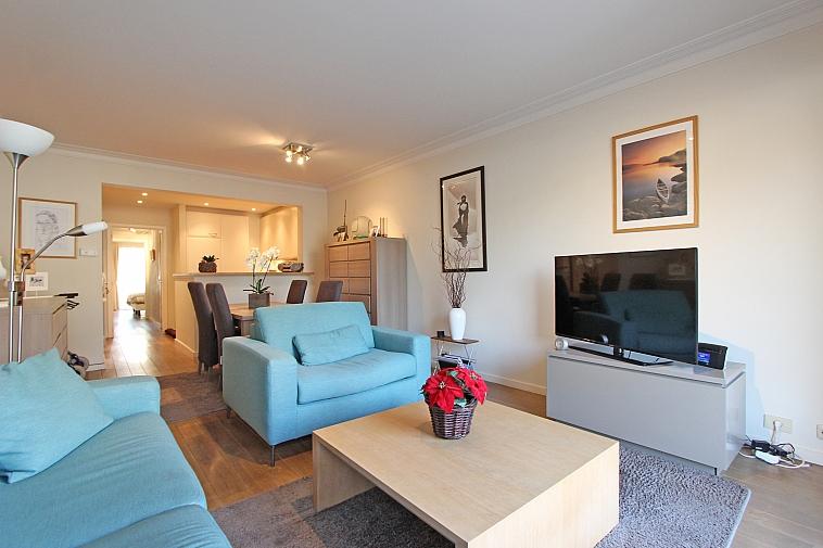 Zonnig, aangenaam appartement op enkele passen van het strand te Knokke