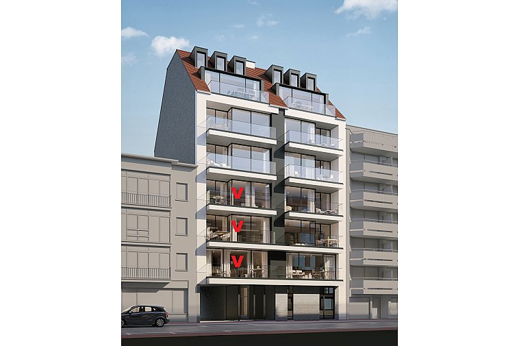 Nieuwbouwproject om de hoek van het Rubensplein te Knokke