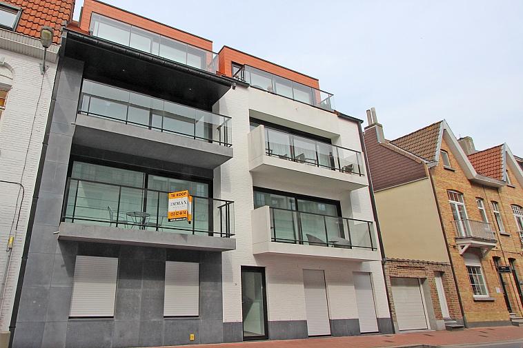 Nieuwbouwappartement in moderne architectuur, centrum Knokke