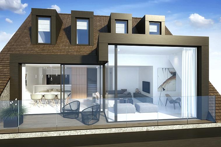 Prachtige penthouse met zijdelings zeezicht te Knokke-Heist
