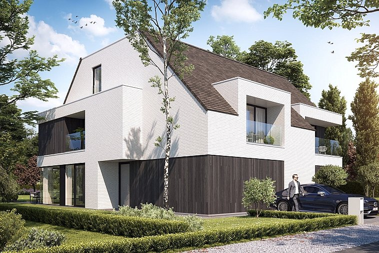 Prachtige koppelvilla's in moderne architectuur.