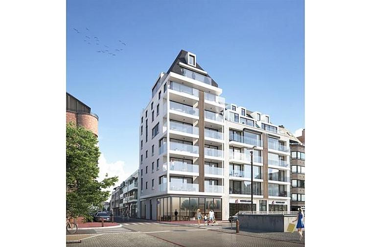 Oud Knokke II - Nieuwbouwproject in moderne architectuur met ruime woonappartementen, zeer centraal gelegen aan het Verweeplein in hartje Knokke, nabij de bruisende Lippenslaan. Nieuwbouwproject in moderne architectuur met ruime woonappartementen, zeer centraal gelegen aan het Verweeplein in hartje Knokke, nabij de bruisende Lippenslaan. Het project bevat 1 handelsgelijkvloers en 14 kwaliteits-appartementen met brede gevels en ruime terrassen vooraan. Er is per appartement een kelderberging en een gemakkelijk toegankelijke, ruime fietsenberging. Profiteer nu van onze lanceerprijzen ! Meer info, lastenboek en plannen op kantoor.