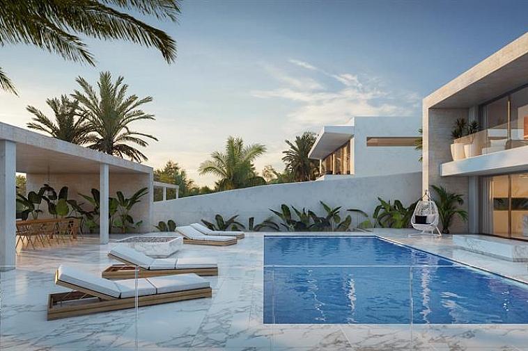 2 gronden voor de bouw van luxueuze villa's met elk hun privé zwembad en prachtig zicht. Strakke architectuur, het natuurlijke licht door de gigantische raampartijen in combinatie met functionaliteit zorgen voor een tijdloos en iconisch verblijf in uw droomvilla. Geniet van het milde Ibiza klimaat! Wil u meer weten over dit fenomenale project met privé terrassen, privé zwembad en prachtig uitzicht, aarzel niet om ons te contacteren.