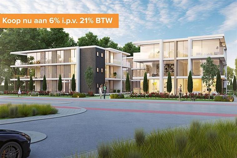 Net buiten het centrum van Varsenare en op een boogscheut van de E40 wordt residentie Nieuwenhove opgebouwd. Deze residentie bestaat uit drie losstaande appartementsblokken voltooid in strakke en moderne architectuur en omgeven door groen.  Iedere blok is twee verdiepingen hoog en per verdieping zijn er drie appartementen, één voor één afgewerkt met hoogstaande en duurzame materialen. Door de grote raampartijen geniet u optimaal van lichtinval en door de ruime terrassen is het zalig vertoeven.  Elk appartement beschikt over een nachthal, een berging/wasruimte, 2 slaapkamers, een badkamer, een apart toilet, een open keuken met eetplaats en een leefruimte dat uitgeeft op het terras.   Vanaf 2021 is een verlaagd btw-stelsel van 6% van kracht voor nieuwbouwappartementen gebouwd op een terrein waar de oude bewoning werd afgebroken. Wie nu nog een nieuwbouwappartement koopt met bouwvergunning 2020 kan nog van deze regel genieten tot eind december 2022. Dit onder voorwaarde dat u zelf de woning betrekt, en er minstens 5 jaar blijft wonen.  Ook is de site volledig onderkelderd en is er plaats gemaakt voor een ruime ondergrondse parking, private kelders en 3 fietsenbergingen.  Aarzel niet ons te contacteren, er zijn reeds een aantal appartementen verkocht! Plannen en gedetailleerd lastenboek op kantoor. Maak een afspraak op kantoor om deze opportuniteit niet te missen!   Voor verdere informatie of vrijblijvend bezoek contacteer het kantoor op 050 62 44 14 of mail naar Brugge@immax.be.