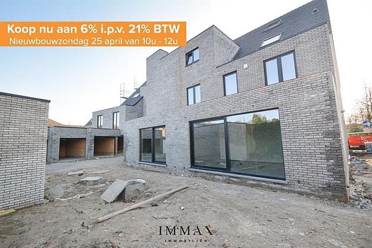 Residentie Chavalie, een kleinschalig nieuwbouwproject op een uitstekende ligging in het centrum van Sint-Andries! De residentie bestaat uit 8 kwalitatief afgewerkte woonappartementen, waaronder 3 luxueuze duplexappartementen. Ieder appartement beschikt over één of twee zuidgerichte terras(sen), het gelijkvloers appartement geniet van een ruime tuin. Bijkomend kan een garage worden aangekocht in de residentie.   Het appartement geniet volgende indeling: inkom met gastentoilet - leefruimte - open keuken met eetplaats - berging - twee badkamers - twee slaapkamers - terras met ruime tuin.   Vanaf 2021 is een verlaagd btw-stelsel van 6% van kracht voor nieuwbouwappartementen gebouwd op een terrein waar de oude bewoning werd afgebroken. Wie nu nog een nieuwbouwappartement koopt met bouwvergunning 2020 kan nog van deze regel genieten tot eind december 2022. Dit onder voorwaarde dat u zelf de woning betrekt, en er minstens 5 jaar blijft wonen.  De onmiddellijke nabijheid van winkels, horeca en uitvalswegen (E40, E403, A11) in combinatie met energiezuinig wonen maken van dit project de ideale investering!  Oplevering bij akte.   Voor verdere informatie of plannen en gedetailleerd lastenboek contacteer wout op 050 62 44 14 - 0475 96 59 38  of mail naar wout@immax.be.