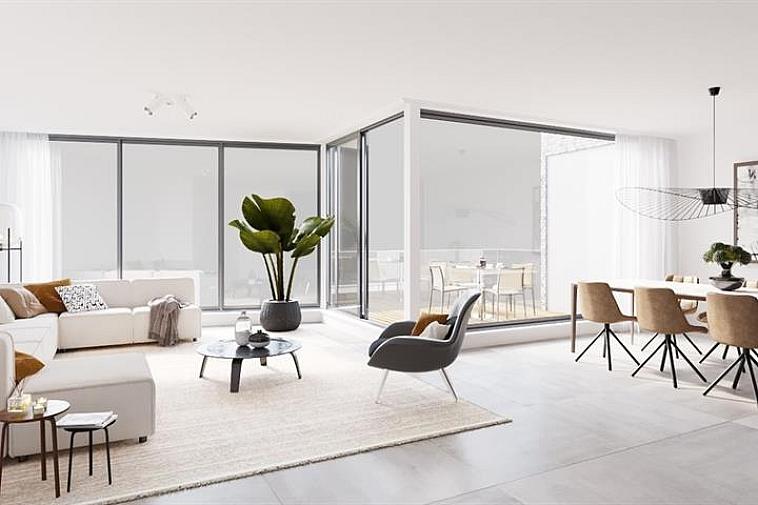 Residentie Van Maerlant, een kleinschalige residentie gelegen in de J. Van Maerlantstraat. De residentie wordt opgebouwd in een moderne en luxueuze architectuur en geniet van een uiterst centrale ligging. Zo sta je op wandelafstand aan de zeedijk van Blankenbergen en het stationsplein.   Alle appartementen zijn standaard uitgerust met vloerverwarming en grote ramen waardoor ze enorm lumineus zijn. Elk appartement biedt een volledig geïnstalleerde keuken en een badkamer met inloopdouche.  Het appartement geniet volgende indeling: inkom met gastentoilet - open keuken met berging - eetruimte - leefruimte met aansluitend terras - badkamer - 2 slaapkamers.  In de prijs zit ook een ruime, private berging en gemeenschappelijke fietsenberging voorzien. Bovendien is er de mogelijkheid om één of meerdere garageboxen aan te kopen in dezelfde residentie. Mogelijkheid tot aankoop aan verlaagd btw-tarief van 6%  Voor verdere informatie of plannen en gedetailleerd lastenboek contacteer Vincent op 050 62 44 14 of mail naar brugge@immax.be.